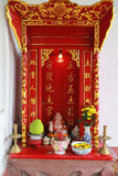 Buddhist altar Royalty Free Stock Images