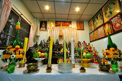 Buddhist altar Stock Photos