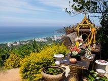 Buddhist altar on Phuket Royalty Free Stock Photos