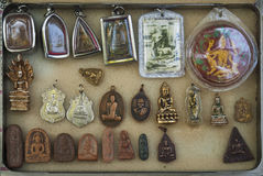 Buddhist amulets in bangkok thailand Royalty Free Stock Images
