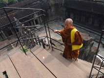 Buddhist in Angkor Wat temple complex Royalty Free Stock Images