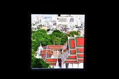 Buddhist architecture of the city Stock Photos