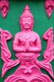 Buddhist art stucco Stock Photo