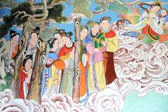 Buddhist art on the walls Royalty Free Stock Image