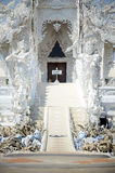 Buddhist art of White Temple or  Wat Rong Khun at Chiang Rai, Thailand. Stock Images