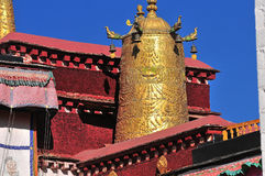 Buddhist banners hanging Royalty Free Stock Images
