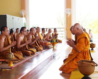Buddhist become a new monk Royalty Free Stock Images