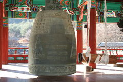 Buddhist bell II. Buddhist bell in Uljin, South Korea stock image