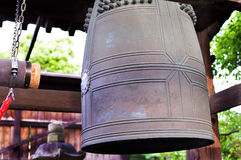 Buddhist bell ringing royalty free stock photos