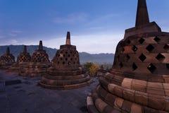 Buddhist Bell Stupas at Borobudur Temple Royalty Free Stock Photography