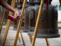 Buddhist Bells. Bells at the temple of Wat Kalayanamit, Bangkok, Thailand Stock Photography