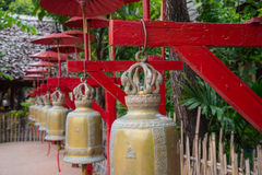 Buddhist bells in temple, Chiang Mai Stock Photography