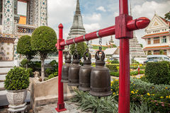 Buddhist Bells in Wat Arun, Bangkok. Buddhist bronze bells at the temple Royalty Free Stock Photos