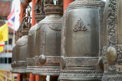 Buddhist bells in wat chediluang, Chiang Mai, Thailand Royalty Free Stock Photography