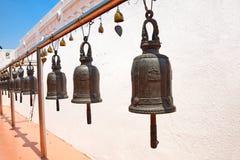 Buddhist bells in Wat Saket, Bangkok, Thailand. Royalty Free Stock Photography
