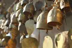 Buddhist bells with wishes Stock Photography