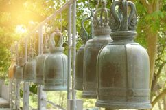 Buddhist bells at thai temple Royalty Free Stock Photos
