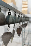 Buddhist bells with wishes in a temple Royalty Free Stock Photography
