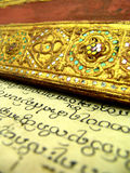 Buddhist Bible, close up Stock Images