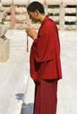 Buddhist Monk in Bodhgaya, India Royalty Free Stock Images