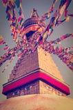 Buddhist Boudhanath Stupa in Kathmandu, Nepal . Stock Image