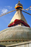 Buddhist Boudhanath Stupa. Nepal, Kathmandu Stock Photo