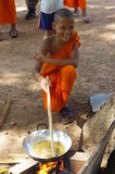 Buddhist boy in the village Stock Image