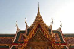 Buddhist building wat buakwan nontaburi thailand. Wat buakwan nontaburi thailand Beautiful buddhist building Stock Photos