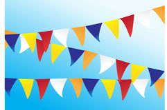 Buddhist bunting flags Stock Image
