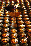 Buddhist butter lamps Royalty Free Stock Images