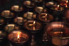 Buddhist butter lamps.-2. Royalty Free Stock Images