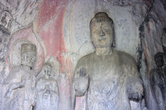 Buddhist Carvings Longmen Grottoes Stock Photography