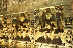 Buddhist cave of Ajanta Royalty Free Stock Images