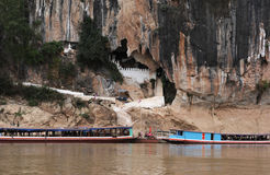 The buddhist cave of Pak Ou near Luang Parbang Royalty Free Stock Image