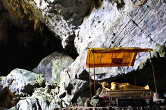 The Buddhist Cave of Pukham Stock Images