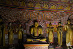 Buddhist cave temple in Dambulla, Sri Lanka Royalty Free Stock Photos