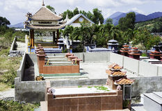 Buddhist cemetery. family graves. day. Stock Image