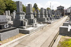 Buddhist cemetery in Japan Royalty Free Stock Image
