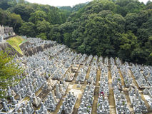 Buddhist cemetery of Kiyomizudera Temple Royalty Free Stock Photo