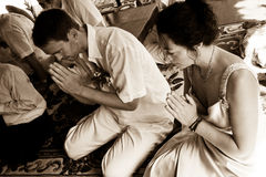 Buddhist ceremony. Royalty Free Stock Images