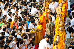 Buddhist charity and merits. Stock Photos