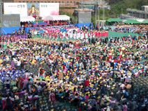 Buddhist Cheer Rally, Seoul, Korea Stock Photos