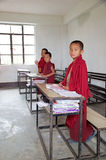Buddhist children at the Labrang Gompa , Sikkim, India Royalty Free Stock Photography