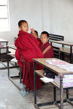 Buddhist children at the Labrang Gompa , Sikkim, India Stock Photos