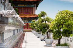 Buddhist Chinese garden temple in Thailand. Stock Image