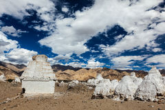 Buddhist chortens, Ladakh Royalty Free Stock Photography