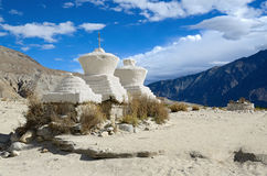 Buddhist chortens Stock Photography