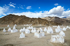 Buddhist chortens Royalty Free Stock Image
