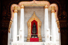 Buddhist church. Thailand's modern architecture. We draw attention to the door frame Stock Photography