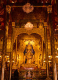 Buddhist church at Chiang Rai, Thailand in dark light Royalty Free Stock Image
